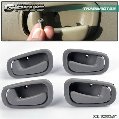 Right & Rear Gray Inside Door Handle Fit For Toyota Corolla & Chevy 1998-2002