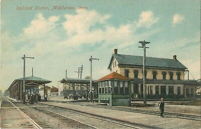 A Closeup View Of The Railroad Station, Middletown, Connecticut CT