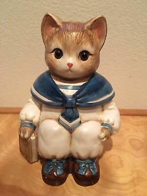 Vintage Sailor Kitty Cat Cookie Jar