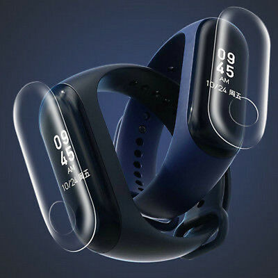 For Xiaomi Mi Band 3 Tempered Glass Screen Belt Hole Screen Protector Film 5PCS