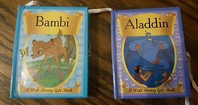 Walt Disney Mini Panoramic books of Aladdin and Bambi - 1993 Set of 2 books