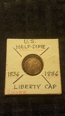 1836 Capped Bust Half Dime Beautiful Rare coin