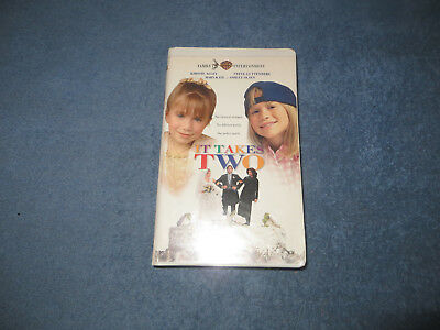 It Takes Two pre-owned VHS tape Mary-Kate & Ashley 1996 white clam case