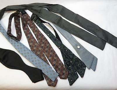 Lot of 6 Vintage Self Tie BOW TIES Woolf Bros BEAU BRUMMELL Silk etc