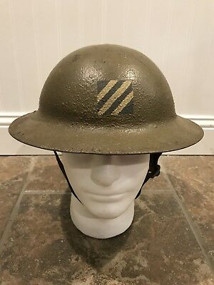 Ww1 3rd Infantry Division Us Army Military Painted Helmet Combat Worn