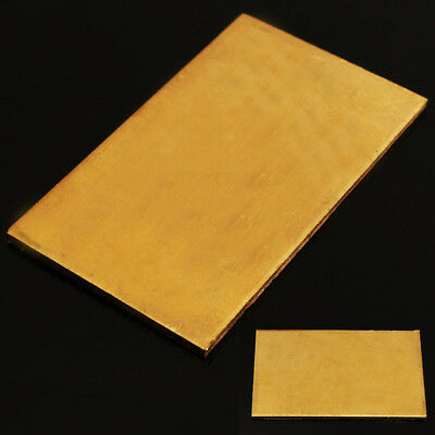 Brass Metal Thin Sheet Plate Welding Metalworking Craft Kit 60*100*3mm NEW