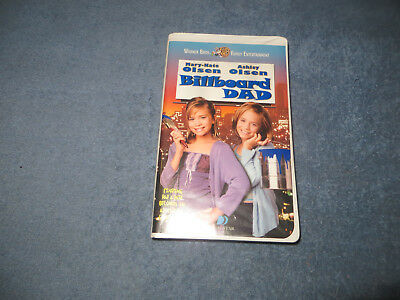 Billboard Dad pre-owned VHS tape Mary-Kate & Ashley 1998 white clam case