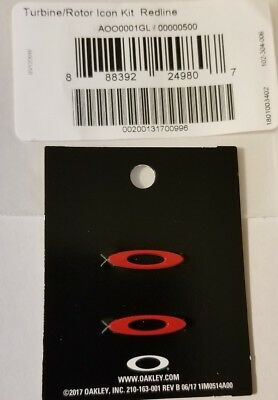 NEW Authentic Oakley TURBINE ROTOR Redline Replacement ICONs for Sunglasses ICON