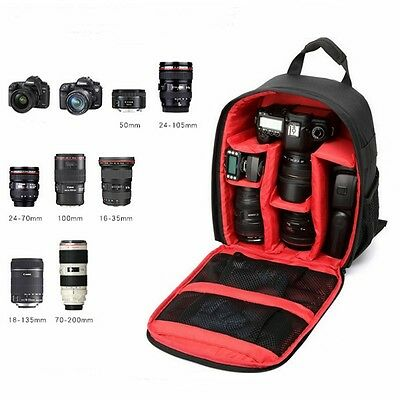 Camera Bag Backpack Waterproof DSLR SLR Rucksack For Canon Nikon Sony RE UK