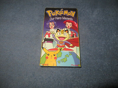 Pokemon Our Hero Meowth pre-owned VHS tape 1998