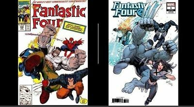 IN HAND BOTH included!! 2018 Fantastic Four #1 Greg Land FF 348 Homage Variant