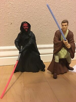 Applause Star Wars PVC Darth Maul and Obi-Wan Kenobi Phantom Menace