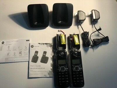 Motorola L603M DECT6.0 Cordless Phone 2 Handsets Brand New Set in Box