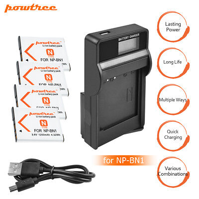 Powtree NP-BN1 N Type Lithium ion Battery Charger for Sony Cyber-shot Camera MP