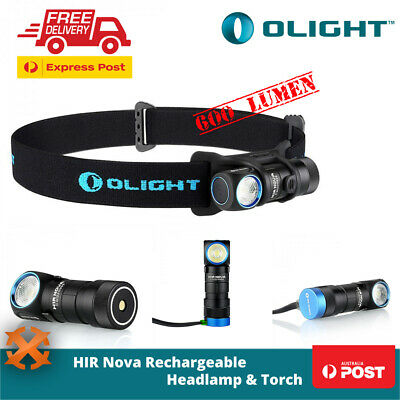 Olight H1R Nova Magnetic Rechargeable Led Headlamp Torch Flashlight Cool White