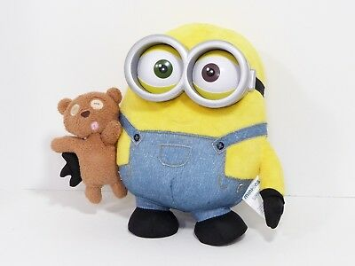 Thinkway Toys Despicable Me Minion Bob & teddy bear Talking Light Up Plush 11""