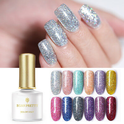 BORN PRETTY 24 Colors Glitter UV Gel Nail Polish Soak Off Manicure Gel Nails 6ml