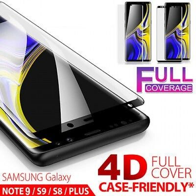Samsung Galaxy Note 9 S9 Plus S8 Note 8 4D Tempered Glass Full Screen Protector
