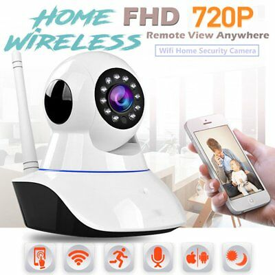 720P Wifi Wireless IP Camera Home Security System IR Night Vision Baby Monitor