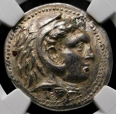 NGC Ch AU 5/5-3/5 Alexander the Great Fourrée Tetradrachm Ancient Greek Forgery.