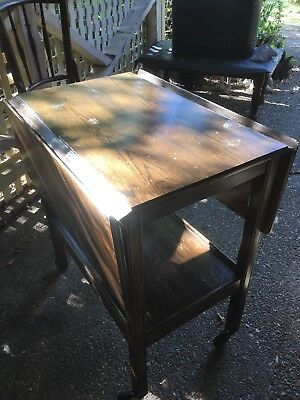 Antique Folding Hall Table