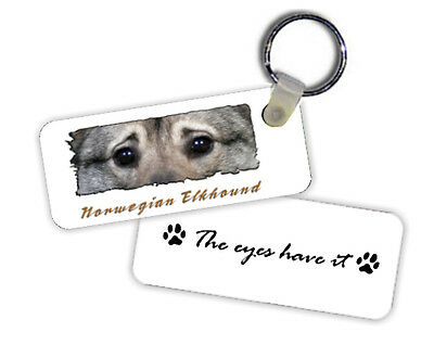 Norwegian  Elkhound   The  Eyes Have It   Key  Chain