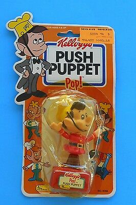 1984 Kellogg's Rice Krispies Push Puppet Character Pop Mint In New Packaging