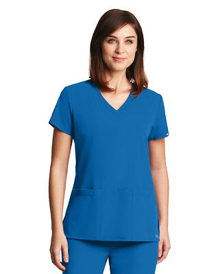 Grey's Anatomy Signature 2115 V-Neck 3 Pocket Scrub Top-New With Tags