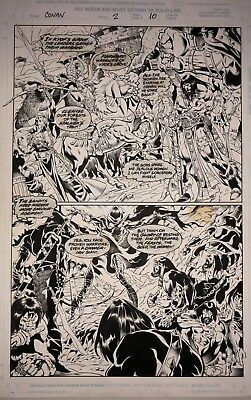 CLAUDIO CASTELLINI  CONAN THE BARBARIAN ORIGINAL ART ISSUE #2 page #12 MARVEL!