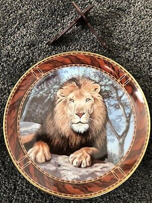 Limited Edition Royal Doulton Decorative Lion Plate - Franklin Mint Heirloom