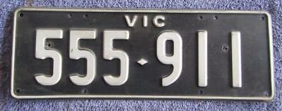 Triple Five All Numeric License/number Plate # 555-911