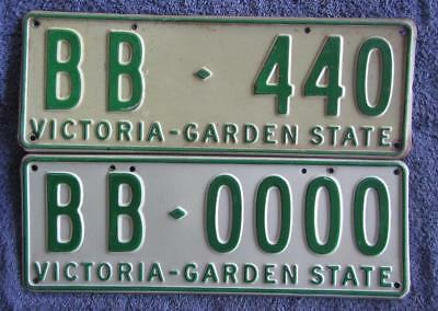 VIC PERS x 2 LICENSE/NUMBER PLATES