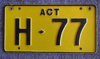 Act Hire License/number Plate # H-77