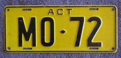 1978 Act Bus License/number Plate # Mo-72