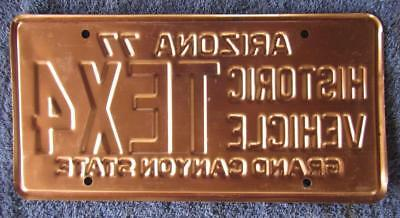 Copper Base Historic License/number Plate # Tex4