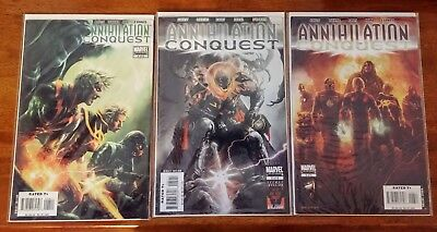 ANNIHILATION CONQUEST #4 5 6 - 1st Appear. of Guardians NM-VF Marvel Lot of 3!