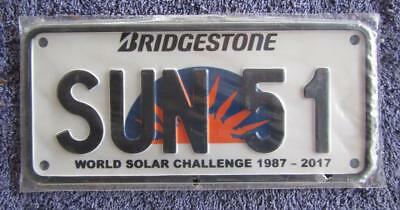 Nt Solar License/number Plate # Sun 51