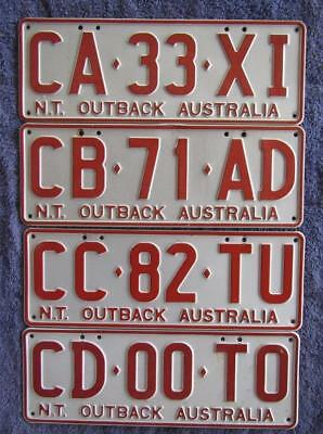 4 x  NT LICENSE/NUMBER PLATES