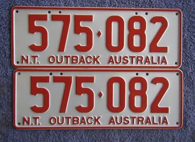 Remade Nt Pair License/number Plates # 575-082