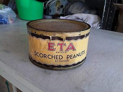 1960's ETA BRAND SCORCHED PEANUTS ~ Nut Foods Australia ~ Branches All States