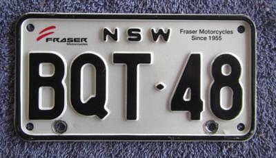 Branded Nsw Motorcycle License/number Plate # Bqt-48