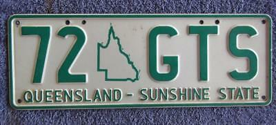 Map Graphic License/number Plate # 72 Gts