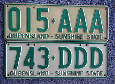 Two Qld Triple License/number Plates