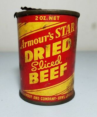 *EXTREMLY RARE* Original vintage Armour's STAR dried sliced beef food tin can.