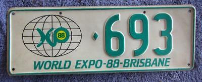 Expo 88 License/number Plate # 693