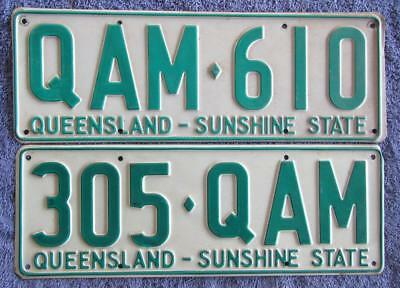 LARGE QLD TRAILER x 2 LICENSE/NUMBER PLATES