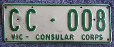 Low Number Consular License/number Plate # Cc-008