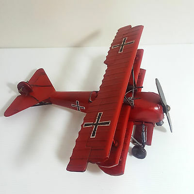BOYLE Red Baron Plane Tin Collectable Triple winged German Fighter Vintage Style