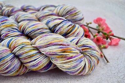 "Hand Dyed"" Hello Parker "" Sock Knitting Yarn  X 2 Skeins"