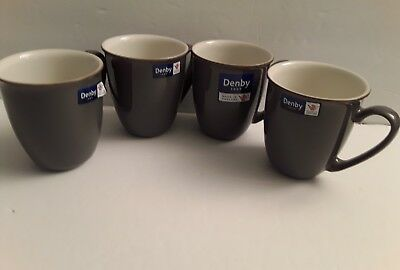 Denby Blends Truffle 4 Coffee Mugs New Made In England